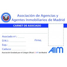 Carnet de Asociado a AIM de Madrid
